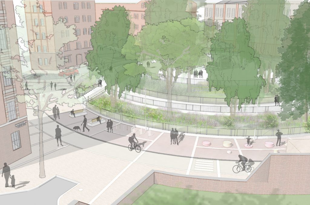Artists impression of Arnold Circus